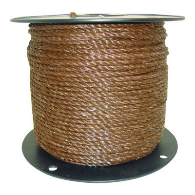 1/4 Brown Poly Rope, 656 ft