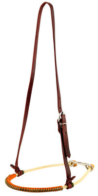 """1/4"""" Single Rope Leather Covered Noseband"""