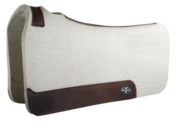 """1"""" Deluxe Steam Pressed 100% Wool Saddle Pad"""