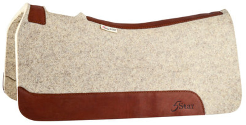 "5 Star 1"" Saddle Pad, Natural"