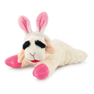 Easter Lamb Chop Dog Toy (with Ears), 10""