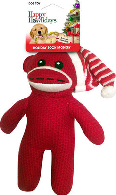"10"" Sock Monkey Dog Toy"
