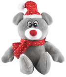 "10"" Plush Christmas Mouse w/ squeaker"