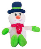 "10"" Plush Christmas Snowman Dog Toy with Squeaker"