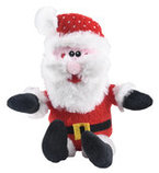 "10"" Plush Santa Dog Toy with Squeaker"