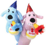"12"" Birthday Loofa Dog, Assorted"