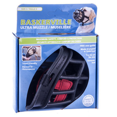 Size 4 Black Baskerville Ultra Muzzle [12 Days]