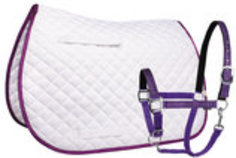Lettia Sparkle All-Purpose Saddle Pad & Matching Breakaway Halter [12 Days]
