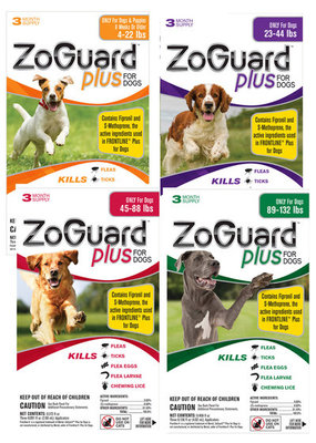 ZoGuard Plus for Dogs, 3-pack [12 Days]