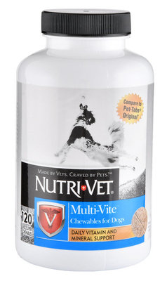 120 count Nutri-Vet Multi-Vite Chewables for Dogs