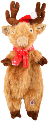 13.5 Holiday Furzz Plush Dog Toy, Assorted
