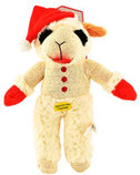 "13"" Standing Lamb Chop with Santa Hat"