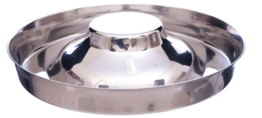"Stainless Steel ""Flying Saucer"" Puppy Food Bowl, 15""D x 2"" Deep"