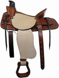 "Dr. J ""Ranch Wade"" Roper Saddle, 17"""