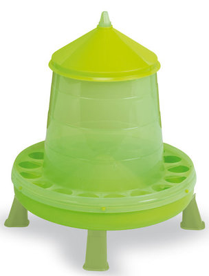 17 lb Plastic Chicken Feeder with Legs