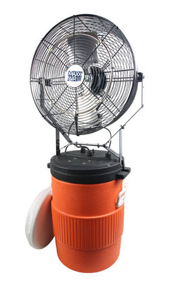 """18"""" Mid-Pressure Misting Fan with 10 Gallon Cooler"""
