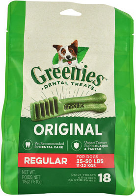 18 ct Greenies Mega Treat Pack, Regular 18 oz