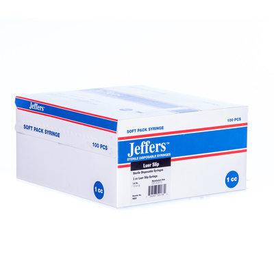 Jeffers Luer Slip Syringes, Boxes