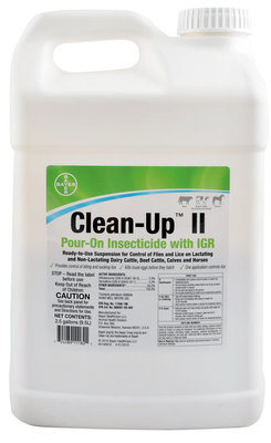 2.5 Gallon Clean-Up II Pour-On Insecticide with IGR