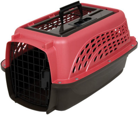 2-Door TOP LOAD Kennel, Pearl Honey Rose/Coffee Grounds