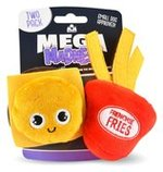 2-pk Burger & Fries Mega Madness Small Dog Toy Set