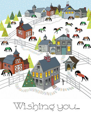 Horse Town Boxed Christmas Cards, 8 count