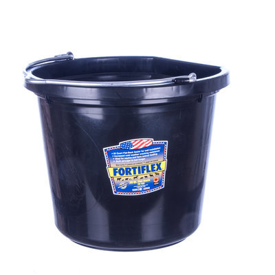 20 qt Flatback Bucket (Black)