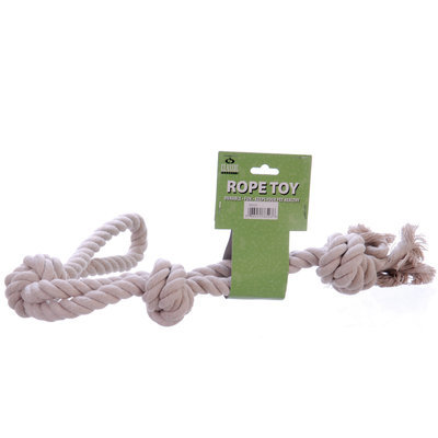 "Triple Knotted Rope Bone, White 23""L"