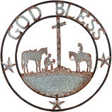 "24"" Showman ""God Bless"" Metal Wall Art"
