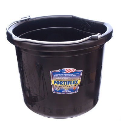 24 qt Flatback Bucket (Black)