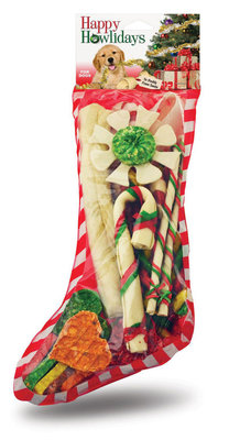 Dog Treat Christmas Stocking, 25 Piece