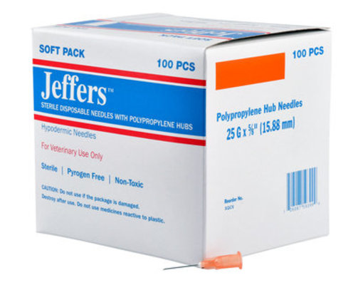 Jeffers Poly Hub Needles, Boxes