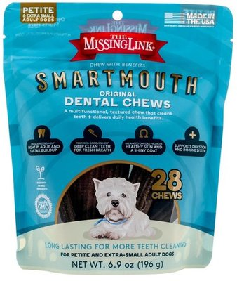 Smartmouth 7-in-1 Dental Chews for Dogs, P/XS, 28 ct