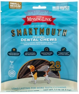 Smartmouth 7-in-1 Dental Chews for Dogs, S/M, 28 ct