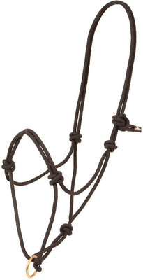 Poly Rope Halter with Brass Plated Lead Ring