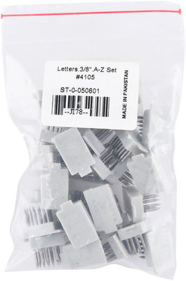 """Jeffers 3/8"""" Letters Set (A-Z), for Standard Tattoo Outfits"""