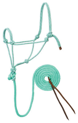 Diamond Braid Roper Halter with Lead