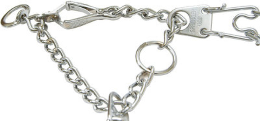"3.9 mm  (25""), Snap-On Prong Collar"