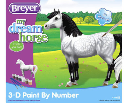 3-D Paint-by-Number Horse - Dapple Gray