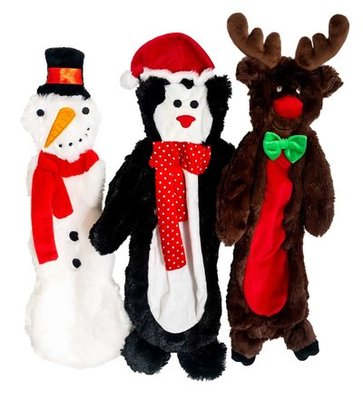 "Jeffers 12"" Unstuffed Plush Christmas Toys w/ 2 squeakers"