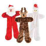 "20"" Plush Christmas Flat Toys, 3-pack"