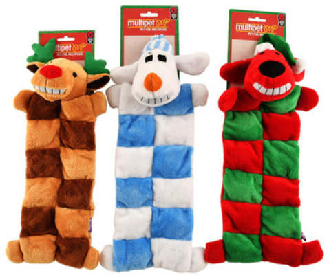 3-pack Loofa Dog Christmas Squeaker Mat