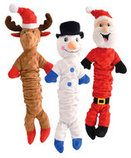 "Pull & Squeak Christmas Characters, 20""L"