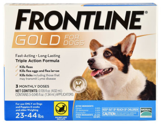 Frontline Gold for Dogs 23-44 lb