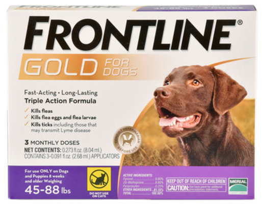 Frontline Gold for Dogs 45-88 lb