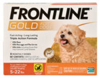 Frontline Gold for Dogs, 3-pack