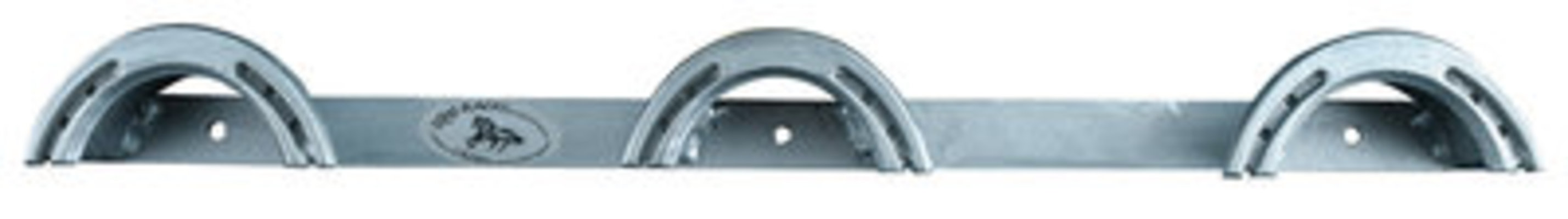 3 Rounded Top Wall Mount Rack, Steel Gray