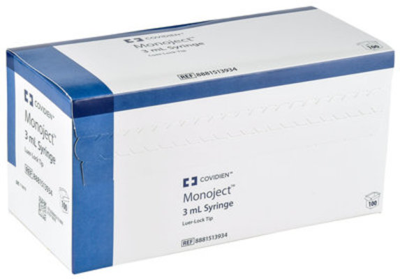 Monoject Luer Lock Syringes, Boxes