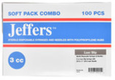 Jeffers Luer Slip Syringe/Needle Combo, Boxes