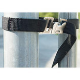 Black Poly Gate Strap, 4' L